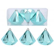 Vianočné ozdoby diamant 3 kusy 10 cm Inlea4Fun - mätové Preview