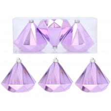 Vianočné ozdoby diamant 3 kusy 10 cm Inlea4Fun - fialové Preview