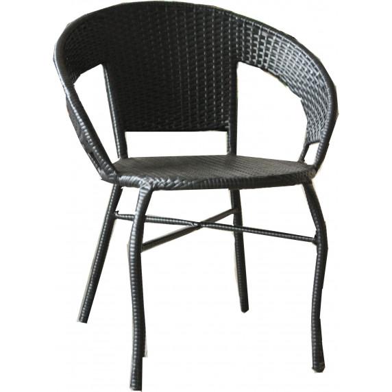 InGarden záhradná zostava BISTRO BIG stôl + 2 stoličky - čierna