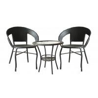 InGarden záhradná zostava BISTRO BIG stôl + 2 stoličky tmavohnedá