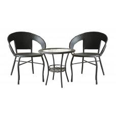 InGarden záhradná zostava BISTRO BIG stôl + 2 stoličky tmavohnedá Preview