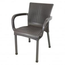 Ratanová záhradná stolička InGarden 60 x 60 x 82 cm - Hnedá Preview