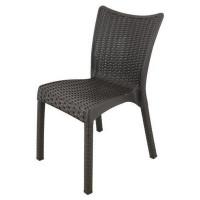 Ratanová záhradná stolička InGarden 53 x 45 x 81 cm 6635 - Hnedá