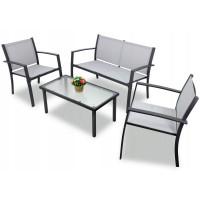 Záhradná zostava InGarden HALINA  stôl + lavica + 2 stoličky