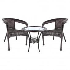 InGarden záhradná zostava BISTRO LUX stôl + 2 stoličky tmavohnedá Preview
