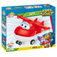 COBI 25122 SUPER WINGS Jett červené lietadlo 175 ks