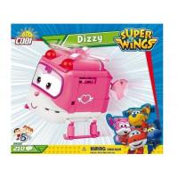 COBI 25123 SUPER WINGS Záchranárka Dizzy ružový vrtuľník 210 ks