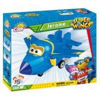 COBI 25125 SUPER WINGS Stíhačka Jerome modré lietadlo 185 ks