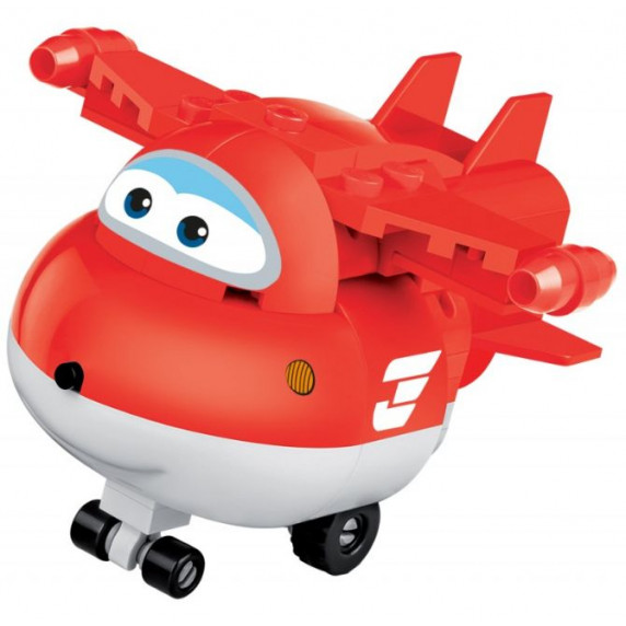 COBI 25126 SUPER WINGS Jett mini červené lietadlo 93 ks