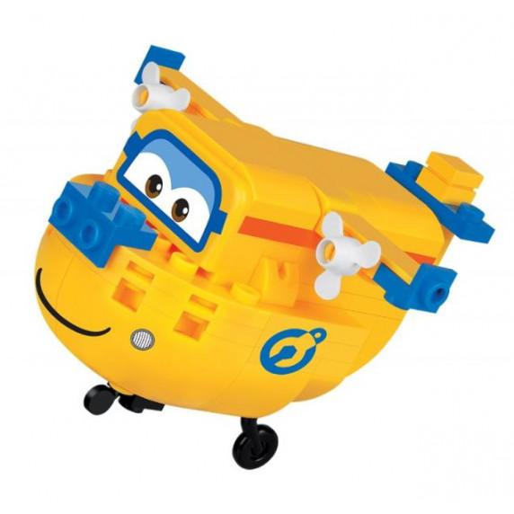 COBI 25128 SUPER WINGS Opravár Donnie mini žlté lietadlo 99 ks