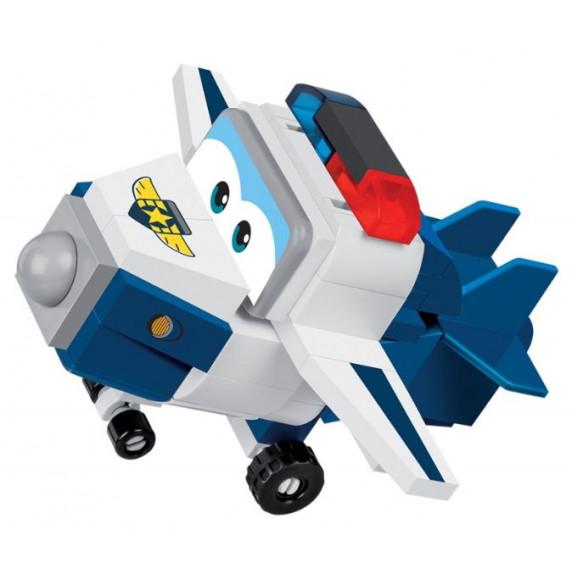 COBI 25130 SUPER WINGS Policajt Paul mini modro - biele lietadlo 96 ks