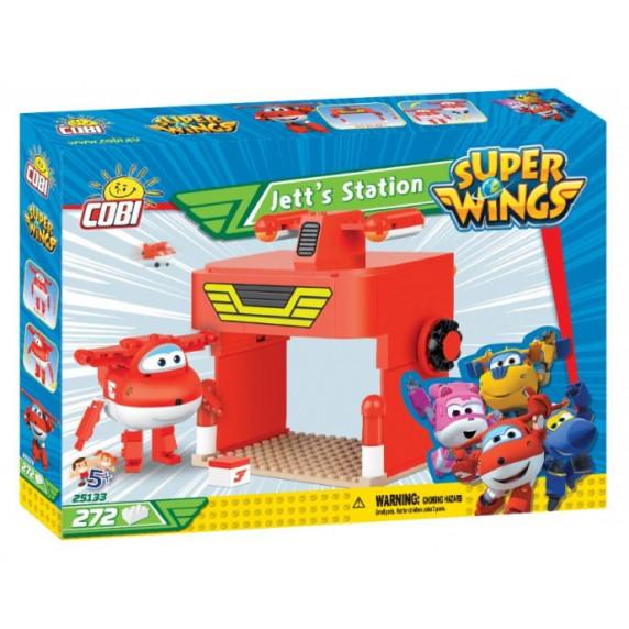 COBI 25133 SUPER WINGS Svetobežník Jett a jeho hangár 272 ks