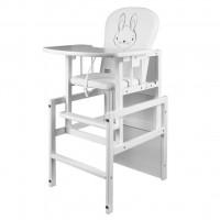 Borovicová stolička zajačik New Baby  - Biela