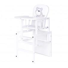 Drewex Antonín borovicová stolička medvedík s hviezdičkou - Biela Preview
