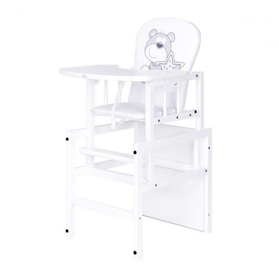 Drewex Antonín borovicová stolička medvedík s hviezdičkou - Biela