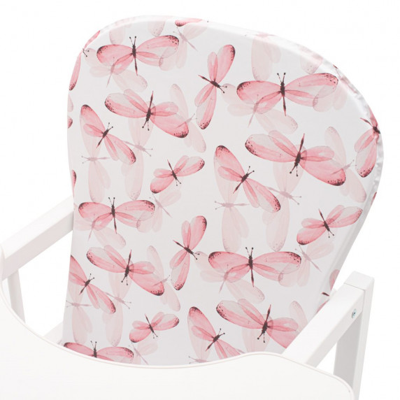 Drewex Antonín Libelula borovicová stolička s motýlikmi - Biela