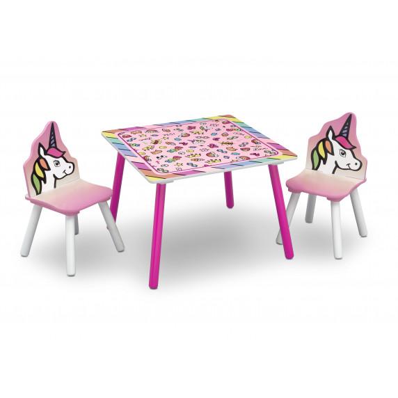 Detský drevený stôl - Jednorožec