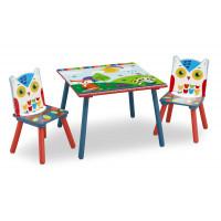 Detský drevený stôl - Lesné zvieratka