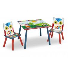Detský drevený stôl - Lesné zvieratka Preview