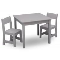 Detský drevený stôl - sivá