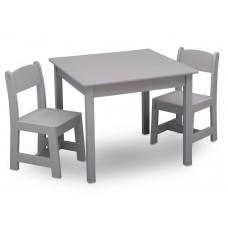 Detský drevený stôl - sivá Preview