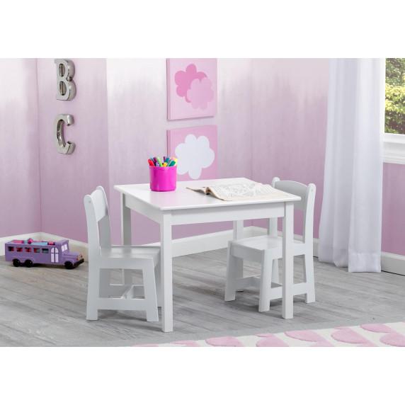 Detský drevený stôl - biela