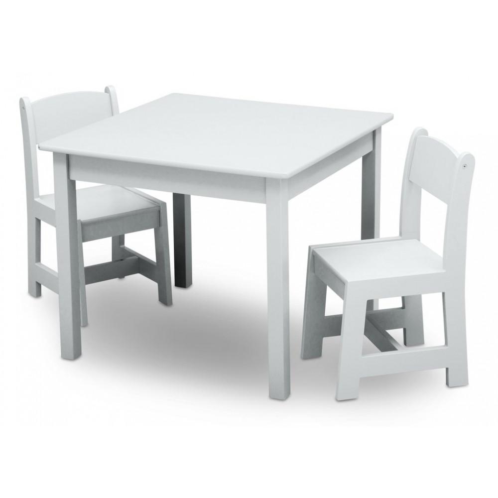 ebbde993ef71 Detský drevený stôl - biela ...