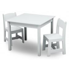 Detský drevený stôl - biela Preview