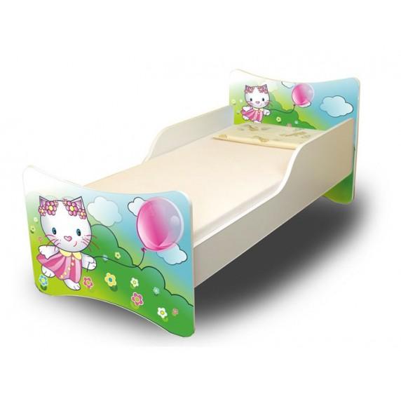 Detská posteľ Mačička 160x70 cm