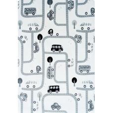 Detský koberec MILUJEME HRU 90 x 130 cm čierno-biely Preview