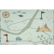 Detský koberec MAPA POKLADOV 100 x 160 cm mätový Preview
