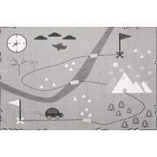 Detský koberec MAPA POKLADOV 100 x 160 cm sivý Preview