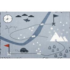 Detský koberec MAPA POKLADOV 100 x 160 cm modrý Preview