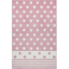Detský koberec STARPOINT 120 x 180 cm ružovo-biely Preview