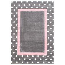 Detský koberec BODKY 120 x 180 cm šedo-ružový Preview
