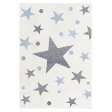 Detský koberec STARS 100 x 160 cm krémovo-modrý Preview