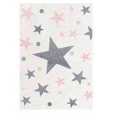 Detský koberec STARS 140 x 190 cm krémovo-ružový Preview