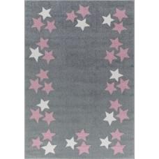 Detský koberec BORDERSTAR - 120 x 180 cm šedoružový Preview