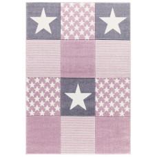 Detský koberec STARWALK 120 x 180 cm sivo-ružový Preview