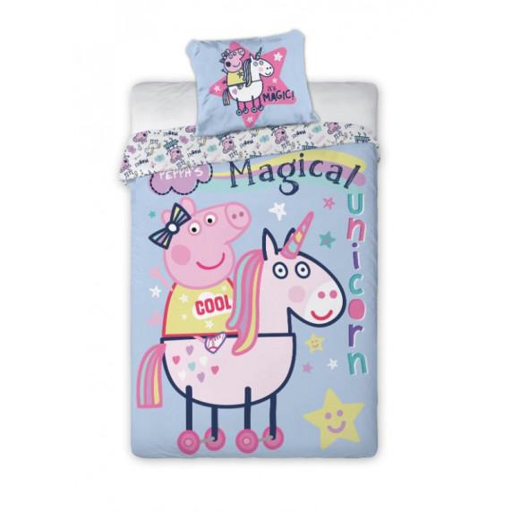 Posteľné obliečky Peppa Pig - Unicorn 140 x 200 cm