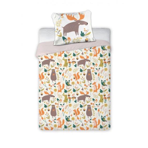 Detské posteľné obliečky Lesné zvieratá