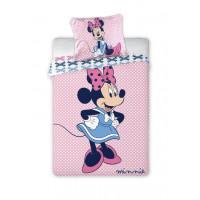 Detské posteľné obliečky Minnie Mouse -bodkované 135 x 100 cm