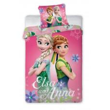 Detské posteľné obliečky 140 x 200 cm Frozen - Elsa a Anna