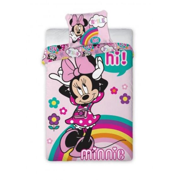 Detské posteľné obliečky Minnie Mouse Hi! 140 x 200 cm