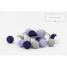 COTTON LOVE bavlnené svietiace guličky fialové 35 kusov Preview
