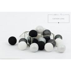 COTTON LOVE bavlnené svietiace guličky strieborné 35 kusov Preview