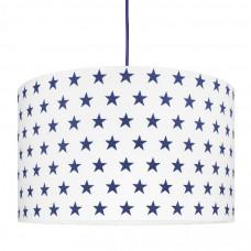 Detská textilná závesná lampa Hviezdy tmavo-modrá Preview