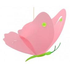 R&M COUDERT detská lampa Motýlik ružovo-zelená Preview