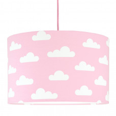 Detská textilná závesná lampa Obláčiky ružová