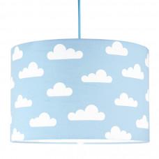 Detská textilná závesná lampa Obláčiky modrá